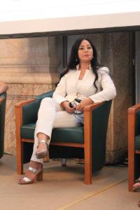 Aynur Boldaz auf dem Podium