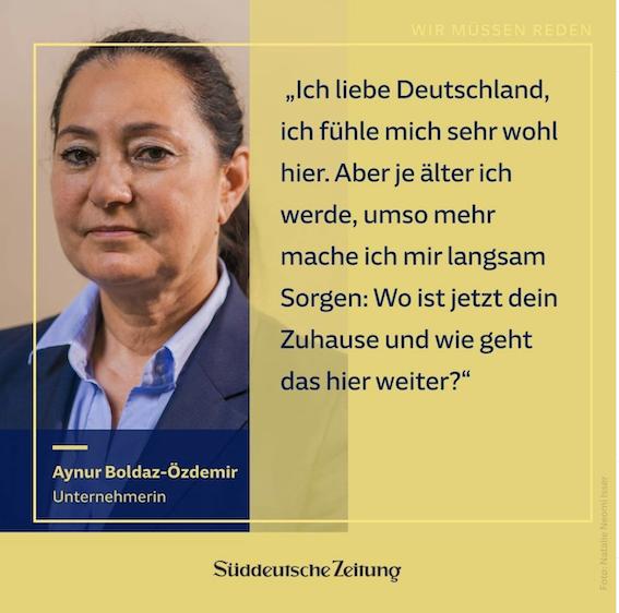 Aynur Boldaz in der Süddeutschen